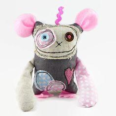 Friendly Monster, Halloween Gift for Girls, Pink Monster