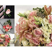 Wedding Collection - Pink - 43 pc. - Sam's Club, $989, inlcudes 1 Bridal Bouquet 6 Bridesmaid Bouquets 1 Toss Away Bouquet 10 Centerpieces (Vase not included) 10 Boutonnieres 12 Corsages 4 pack of Petals Clippers