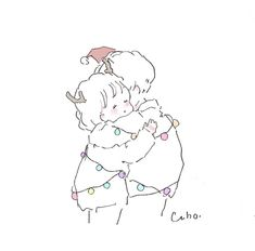 Caho(@chico0811)さん / Twitter Notebook Art, Cute Kawaii Drawings, Cute Art Styles, Cute Anime Couples, Couple Art, Pretty Art, Art Sketchbook, Art Tutorials, Art Sketches
