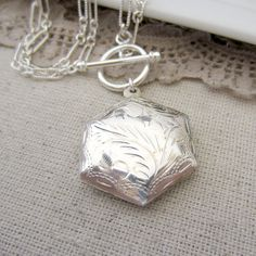 Sterling Silver Locket Necklace Picture Locket by LexiandGem