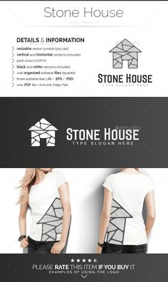 Stone House  Logo Design Template Vector #logotype Download it here:  http://graphicriver.net/item/stone-house-logo-template/8931516?s_rank=1369?ref=nexion