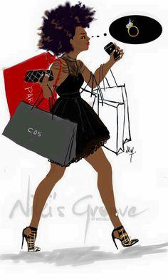French Artist, Nicholle Kobi, Brings Black Girl Magic To Life . Black Girl Art, Black Women Art, Black Girls Rock, Black Girl Magic, Art Girl, I Love Being Black, Black Is Beautiful, Beautiful Things, African American Art