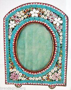 Antique Micro Mosaic Frame Italian 19th Century Miniature Picture Frame 5020 | eBay
