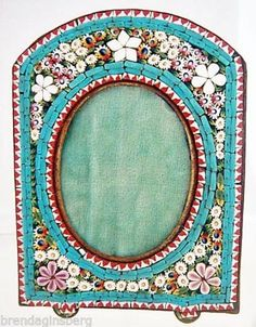 antique micro mosaic frame italian 19th century miniature picture frame 5020 ebay