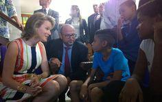 Bezoek aan SOS Kinderdorpen in #RiodeJaneiro. Koningin en @VincentKompany steunen @KINDERDORPEN. pic.twitter.com/ZaYQEYzfrP