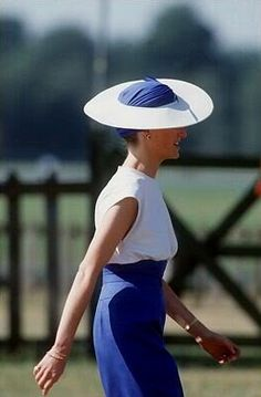 1989-06-21 Diana at a Polo Match after Royal Ascot