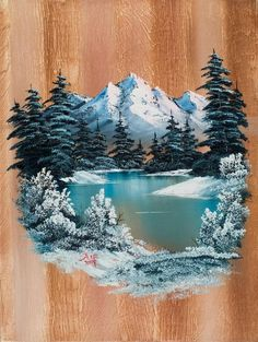 Winter Heaven by Chris Steele - - Winter Heaven by Chris Steele Art and painting Winter Painting, Winter Art, Painting On Wood, Oil Paint On Wood, Painting With Oils, Art On Wood, Peintures Bob Ross, Acrylic Canvas, Canvas Art