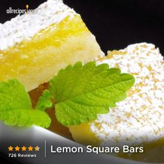 "Lemon Square Bars | ""Have tried so many lemon bar recipes but THIS IS IT!!!"" http://allrecipes.com/recipe/lemon-square-bars/Detail.aspx"