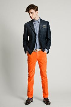 Mix it up with fun colors. 2 button jacket with slightly wider notch lapel