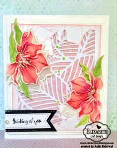 Vellum Flowers with Intricate Background