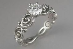 My dream wedding band..thick enough to be worn all alone....engagement ring and wedding band in one!