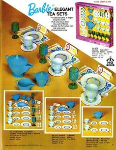 Fall 1970 HG Toys Toy Catalog Brochure Barbie Tea Sets Cleaning Sets D22 | eBay Barbie Car, Play Barbie, Barbie Life, Barbie And Ken, Vintage Barbie, Vintage Dolls, Retro Vintage, Toy Catalogs, Sample Box