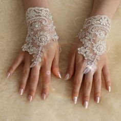 LUX Wedding Gloves White Laced with pearl by handoffatma on Etsy Private Wedding, Wedding Gloves, Wedding Accessories, Fingerless Gloves, White Lace, Diy Crafts, Etsy Shop, Pearls, Trending Outfits