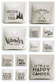 Pillow Covers via Hearts & Sharts on Etsy