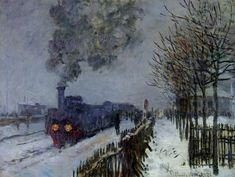 La Locomotive ou Le Train sous la Neige,Claude Monet,1875,Impressionnisme,éducation,enseignement,analyse et etude de la toile et du style,art,culture,peinture