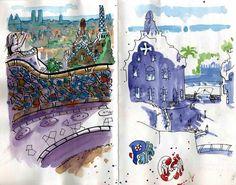 Moltes gràcies a Drawing Location School, per fer-nos arribar aquests fantàstics dibuixos de Jaillus i Fernanda Lamelas, realitzats el passat mes de juny al Park Güell. Ens encanta el resultat