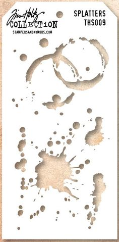 SPLATTERS LAYERING STENCIL by Tim Holtz by Alleystamp on Etsy, $4.25