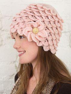 Crocodile Stitch Crochet Hat Pattern