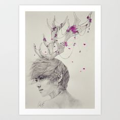 Portrait of the Forest Art Print by gaborovna - $18.72  It's Luhan form EXO