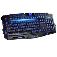 Tri-color LED Backlight Gaming Advanced Keyboard for PC Laptop