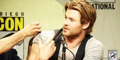 These biceps? You guessed it, there is no way they belong to a mere man made of flesh and bone. They clearly are the biceps of a higher being. | 18 Pieces Of Evidence That Prove Chris Hemsworth Actually Is A God