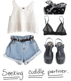 """seeking cuddles"" by xquennie-beckyx ❤ liked on Polyvore"
