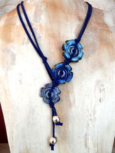 DECABS Lariot Style Necklace by The Beading Yogini