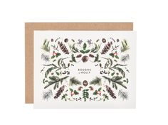 Boughs of Holly Christmas card by HouseThatLarsBuilt on Etsy, $4.50