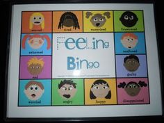 Feeling Bingo - from http://thespeechladies.blogspot.com/search/label/speech%20therapy%20activities