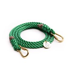 Adjustable Green Rope Leash by Found My Animal