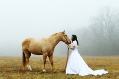 Photo Fridays | Romantic Horse Bridal Shoot (if I had trashed my dress...)