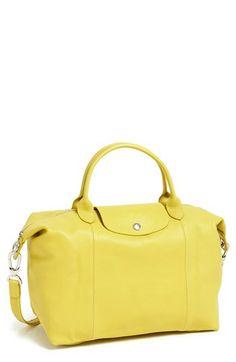Longchamp Le Pliage Cuir Leather Handbag Available At Nordstrom Velvet Shoes