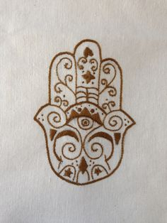 brown hand-embroidered flour sack dish towel 45 TL, 15 euro Hamsa Hand, Dish Towels, Cushion Covers, Euro, Cushions, Brown, Fabric, Tejido, Tea Towels