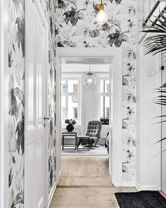 """766 Likes, 13 Comments - Lonny Magazine (@lonnymag) on Instagram: """"When using grey in your entryway looks greYt! (had to, sorry.) // via Planete Deco"""""""