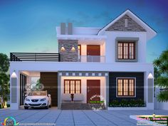 Two Bedroom Small House Design – Amazing Architecture Magazine House Outside Design, Simple House Design, House Front Design, Modern House Design, 2 Storey House Design, Bungalow House Design, 4 Bedroom House Designs, Model House Plan, Modern Bungalow House