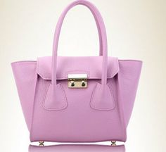 purple  candy color bat genuine leather shopping bags by starbag, $69.50