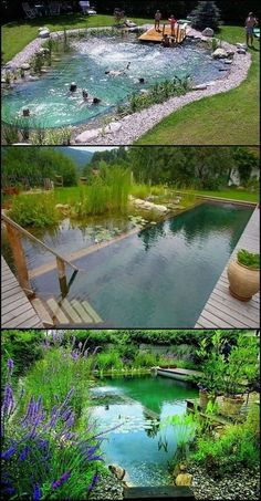 Natural swimming ponds, also called natural swimming pools, are a wonderful possibility . - Natural swimming ponds, also called natural swimming pools, are a wonderful way to relax - Natural Swimming Ponds, Natural Pond, Above Ground Pool Pumps, In Ground Pools, Backyard Pool Landscaping, Ponds Backyard, Landscaping Ideas, Backyard Ideas, Pool Ideas