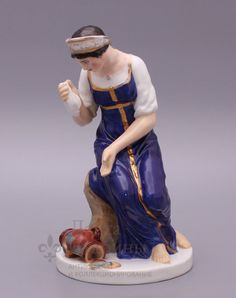 Статуэтка «Девушка с разбитым кувшином», ЛФЗ, 1920-е г., скульптор Пименов С., модель 1817-1820 г.