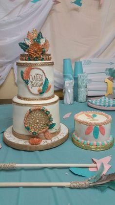 Wild One birthday & smash cakes Pocahontas Birthday Party, Wild One Birthday Party, 1st Birthday Cakes, Baby Girl 1st Birthday, 1st Birthday Parties, Birthday Ideas, Baby Shower, 1st Birthdays, Cake Smash