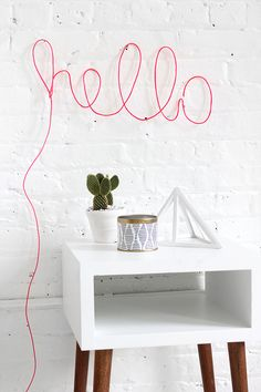DIY neon rope light sign!
