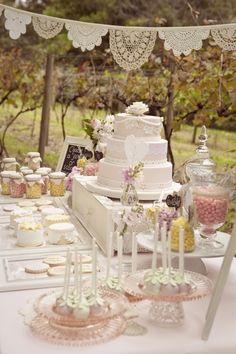 Shabby chic dessert table
