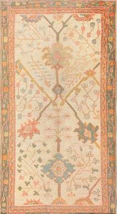 This beautiful antique decorative Turkish Oushak rug 47577 can be viewed at the Nazmiyal Collection Located in the heart New York City.