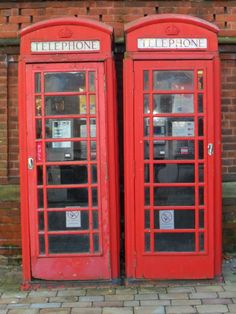 "vwcampervan-aldridge: ""Classic red telephone boxes, Lichfield, Staffordshire, England All Original Photography by http://vwcampervan-aldridge.tumblr.com """