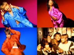 IF SOMEONE ORE EVEN MORE THAN ONE PERSON CAN WEAR SOLID COLOR SILK PAJAMAS TO LOOK LIKE TLC IN 'CREEP' I WILL DIE HAPPY Also we should recreate those hairstyles fo sho