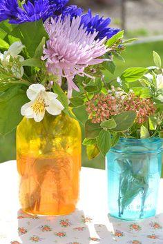 Tinted Glass Jars #tutorial