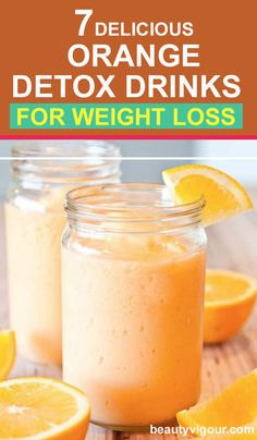 7 Delicious Orange Detox Drinks for Weight loss - Keto recipes - Detox Detox Diet Drinks, Natural Detox Drinks, Fat Burning Detox Drinks, Detox Juices, Cleanse Detox, Juice Cleanse, Detox Foods, Liver Cleanse, Juice Drinks