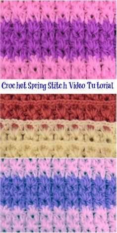 crochet spring stitch video tutorial
