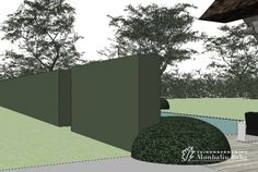 Laat je tuin ontwerpen door Tuinonderneming Monbaliu - Bostuin rond prachtig landgoed met biopool overloopzwembad te Hertsberge