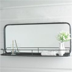 Metal Mirror with Shelf - Large $140 another mirror for basement bath