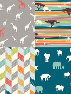 Modern Organic Cotton Fabric Birch Serengeti by lakesidecreations1
